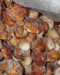 замороженные грибы надо хранить при стабильной темпиратуре