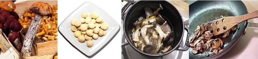 замороженные грибы могут быть разными